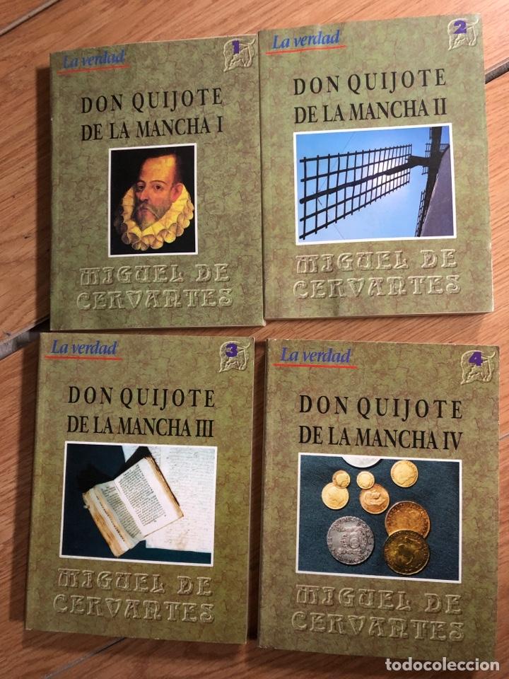 DON QUIJOTE DE LA MANCHA CUATRO TOMOS MIGUELDECERVANTES LA VERDAD (Libros nuevos sin clasificar)
