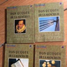 Libros: DON QUIJOTE DE LA MANCHA CUATRO TOMOS MIGUELDECERVANTES LA VERDAD. Lote 260681270