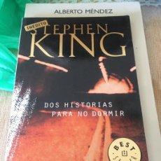 Livros: STEPHEN KING, DOS HISTORIAS PARA NO DORMIR, DE BOLSILLO,. Lote 261839165