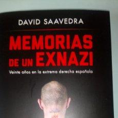 Libros: LIBRO MEMORIAS DE UN EX NAZI. DAVID SAAVEDRA. EDITORIAL SINEQUANON. AÑO 2021.. Lote 263231970