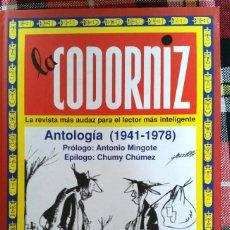 Libros: LA CODORNIZ ANTOLOGIA 1941-1978. Lote 266607698
