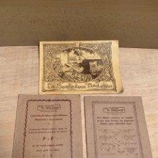 Libros: TRES LIBRETAS DOS CON DIBUJOS PLANCHABLES, PARA SÁBANAS, MANTELERÍA Y ROPA BLANCA. BORDADO. Lote 268875934