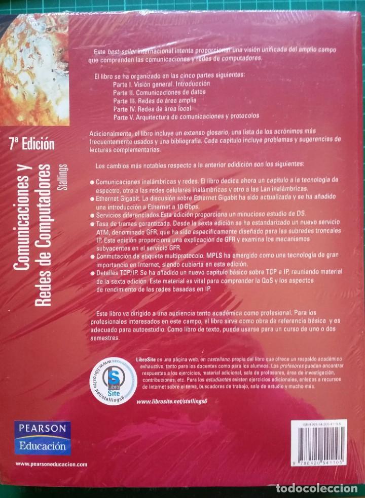 Libros: COMUNICACIONES Y REDES DE COMPUTADORES - WILLIAM STALLINGS NUEVO PRECINTADO - Foto 2 - 268892344