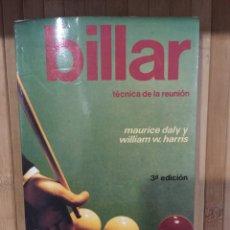 Libros: BILLAR TÉCNICA DE LA REUNIÓN ( TERCERA EDICIÓN). Lote 269469413