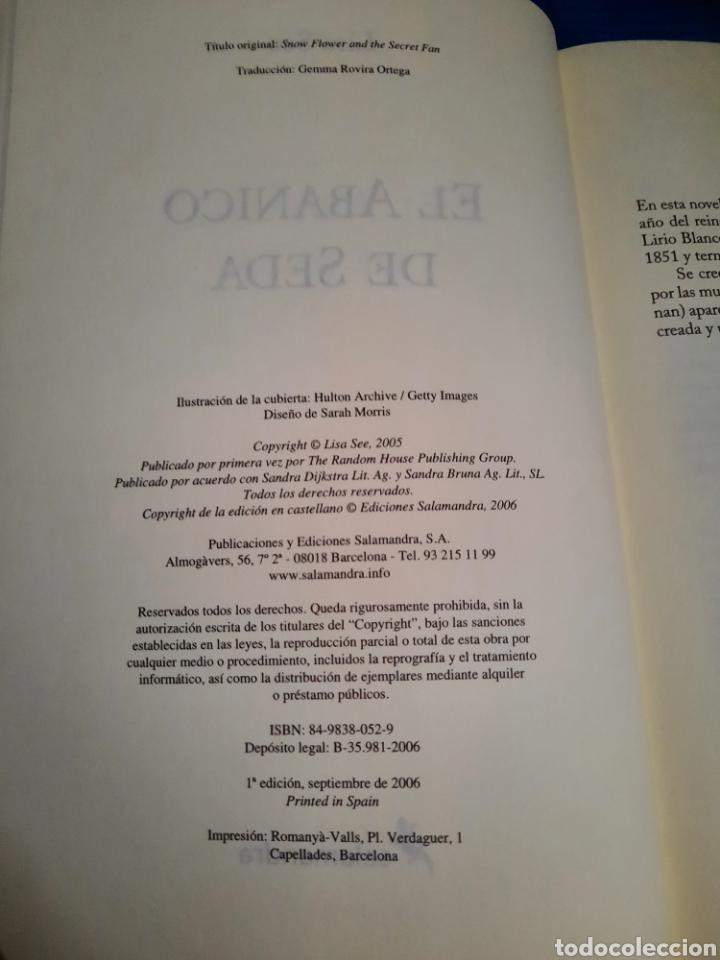 Libros: LIBRO EL ABANICO DE SEDA, LISA SEA, NARRATIVA SALAMANDRA, 1°EDICIÓN 2006 - Foto 3 - 269977938