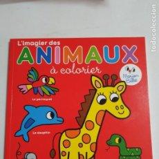 Libros: ANIMAUX A COLORIER LIBRO PARA PINTAR ESTADO NUEVO MAS ARTICULOS. Lote 271108748