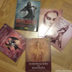 Livros: LOTE DE 5 LIBROS SOBRE DIBUJO. FANTASÍA.. Lote 272325213