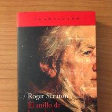 Livres: EL ANILLO DE LA VERDAD, ROGER SCRUTON. ACANTILADO. Lote 275464438