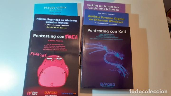 6 LIBROS HACKING INFORMÁTICA 64 Y 0XWORD (Libros nuevos sin clasificar)