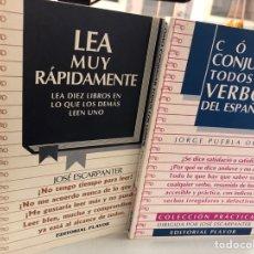 Livros: LOTE 2 LIBROS COMO CONJUGAR VERBOS Y LEA MUY RÁPIDAMENTE. Lote 276822788