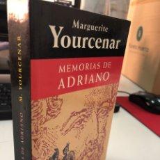 Livros: MEMORIAS DE ADRIANO MARGUERITE YOURCENAR. Lote 276823003