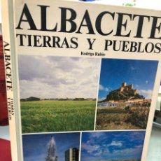 Libros: ALBACETE TIERRAS Y PUEBLOS 1983 RODRIGO RUBIO. Lote 277428143