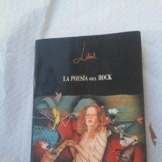 Libros: LIBRO - LA POESIA DEL ROCK. Lote 278273103