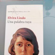 Libros: LIBRO UNA PALABRA TUYA. Lote 278561998