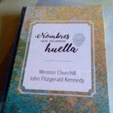 Libros: R ES/ LIBRO NUEVO PRECINTADO/NOMBRES QUE DEJARON HUELLA/WINSTON CHURCHILL/JOHN FITZGERALD KENNEDDY. Lote 284011338