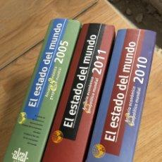 Livres: LOTE EL ESTADO DEL MUNDO 2005, 2010, 2011, AKAL (PRECIO EN TIENDA DE 80€). Lote 285968868