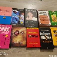 Libros: LOTE 10 LIBROS AUTOAYUDA. Lote 288326213