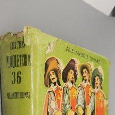 Libros: LOS TRES MOSQUETEROS ALEJANDRO DUMAS COLECCIÓN JUVENIL CADETE N° 36. Lote 288621743