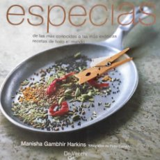 Libros: ESPECIAS - MANISES GAMBHIR HARKINS FOTOGRAFÍAS DE PETER CASSIDY. Lote 290057218