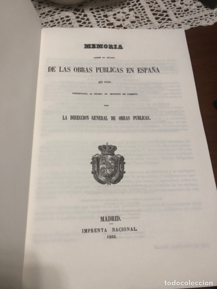 Libros: Memoria sobre el estado de las obras públicas en España en 1856 - Foto 6 - 290108668