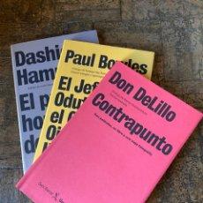 Libros: 3 LIBROS - DELILLO BOWLES HAMMETT - SEIX BARRAL ÚNICOS (2005) ENVÍO GRATIS. Lote 293832498