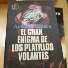Libros: EL GRAN ENIGMA DE LOS PLATILLOS VOLANTES ANTONIO RIBERA. Lote 294934123