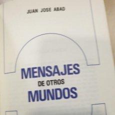Libros: LA TIERRA PLANETA EXPERIMENTAL PARA LOS EXTRA-TERRESTRES JUAN JOSÉ ABAD. Lote 294939338