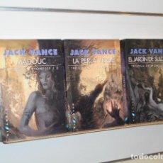 Libros: TRILOGIA DE LYONESSE JACK VANCE COMPLETA 3 TOMOS - GIGAMESH OFERTA. Lote 295843053