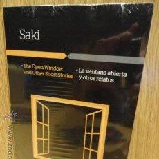 Libros: AUDIOBOOKS / LIBROS BILINGÜES. SAKI. LA VENTANA ABIERTA. INCLUYE CD / LIBRO PRECINTADO.. Lote 52968436
