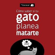 Livres: CÓMO SABER SI TU GATO PLANEA MATARTE. Lote 70957878