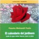 Libros: LIBRO: EL CALENDARIO DEL JARDINERO.. Lote 78906557