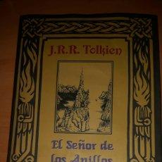Livres: LIBRO CARTONÉ CON SOBRECUBIERTA EL SEÑOR DE LOS ANILLOS DE JRR TOLKIEN-CIRCULO LECTORES. Lote 80295295
