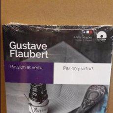 Libros: AUDIOBOOKS / LIBROS BILINGÜES / ESPAÑOL-FRANCÉS. GUSTAVE FLAUBERT / PRECINTADO.. Lote 104289199