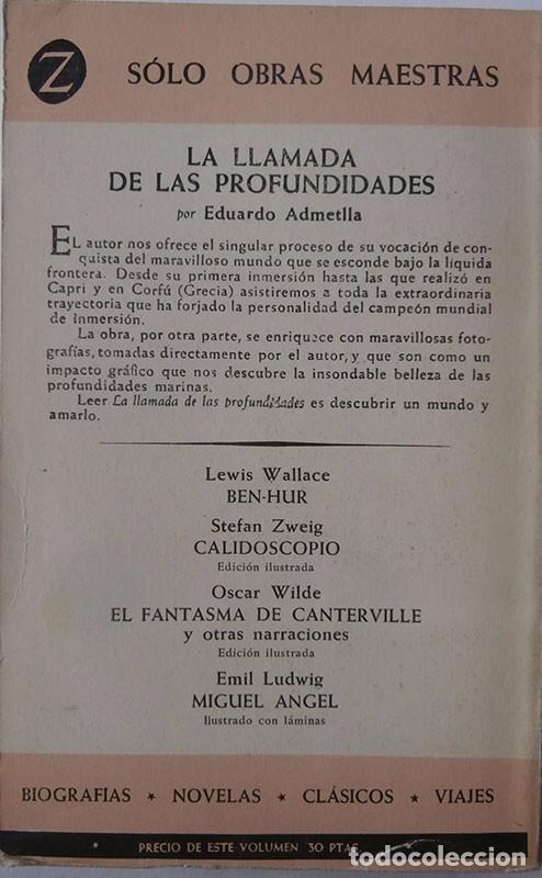 Libros: LA LLAMADA DE LAS PROFUNDIDADES . EDUARDO ADMENTLLA. 1961 CAMPEÓN DE INMERSIÓN - Foto 5 - 95450463
