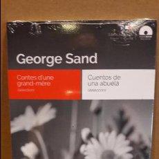 Libros: AUDIOBOOKS / LIBROS BILINGÜES / FRANCES / ESPAÑOL / GEORGE SAND / PRECINTADO.. Lote 128426931