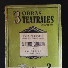 Libros: LIBRO 3 OBRAS TEATRALES COMPLETAS N°4 1941. Lote 106927590