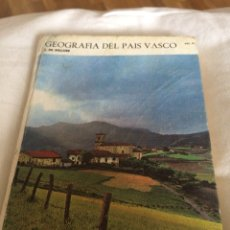 Libros: 1972GEOGRAFIA PAÍS VASCO. Lote 114085600