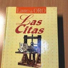 Libros: LAS CITAS - LIBRO DE ORO, AÑIL - 1999. Lote 114108791