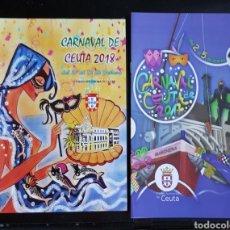 Libros: PROGRAMAS CARNAVAL CEUTA AÑO 2017 Y 2018. Lote 122233811