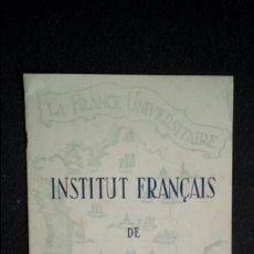 Libros: INSTITUTO FRANCÉS DE BARCELONA. PROGRAMA CURSO 1944-45.. Lote 126777043