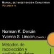 Libros: MÉTODOS DE RECOLECCIÓN Y ANÁLISIS DE DATOS. Lote 126448432