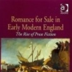 Libros: ROMANCE FOR SALE IN EARLY MODERN ENGLAND. Lote 117291102