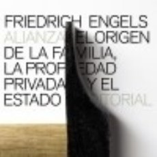 Libros: EL ORIGEN DE LA FAMILIA, LA PROPIEDAD PRIVADA Y EL ESTADO. Lote 70911707