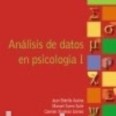Libros: ANÁLISIS DE DATOS EN PSICOLOGÍA I. Lote 73664213