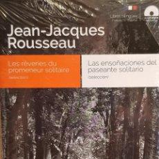 Libros: AUDIOBOOKS / LIBROS BILINGÜES / FRANCES / ESPAÑOL / JEAN-JACQUES ROUSSEAU / PRECINTADO.. Lote 128431131