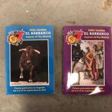 Libros: LOTE FIESTAS PATRONALES ARGANDA DEL REY , PEÑA TAURINA EL BARRANCO. Lote 128442535
