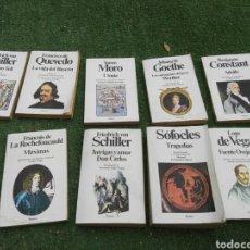Libros: LOTE LIBROS CLASICOS LOPE DE VEGA, SÓFOCLES TOMAS MORO FRANCISCO DE QUEVEDO.... Lote 128996378
