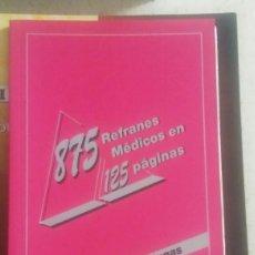 Libros: 875 REFRANES MÉDICOS.. Lote 135486599