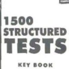 Libros: CLAVES TEST ESTRUCTURADOS DE INGLÉS. Lote 139258556