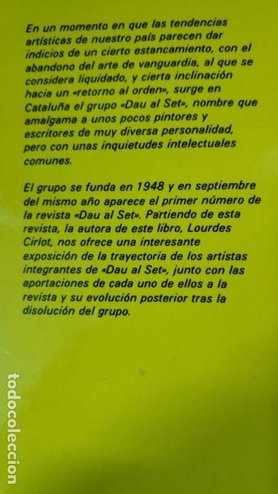Libros: EL GRUPO DAU AL SET LOURDES CIRLOT - Foto 2 - 151429662